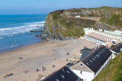 Tolcarne Beach Newquay Cornwall Royalty Free Stock Photos