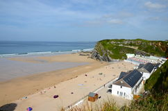 Tolcarne beach, Newquay. Overlooking Tolcarne beach in Newquay, Cornwall Royalty Free Stock Photography