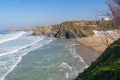 Tolcarne plaża Newquay Cornwall Zdjęcie Stock