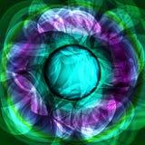 Tolden lichtgevende lichtgroene purpere abstracte achtergrond Royalty-vrije Stock Foto