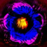 Tolden lichtgevende lichtrose blauwe achtergrond Royalty-vrije Stock Foto's