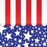 Toldo americano ilustração royalty free