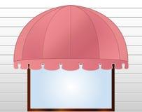 Toldo da montra na cor-de-rosa avermelhada ilustração stock