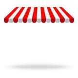 Toldo del toldo para las tiendas, los cafés y los restaurantes al aire libre Vector i stock de ilustración
