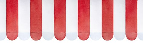 Toldo listrado vermelho e branco do teste padrão repetível sem emenda ilustração stock