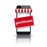 Toldo vermelho Geschlossen de Smartphone ilustração royalty free