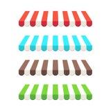 Toldos coloreados. Fotos de archivo