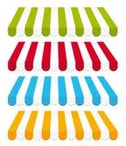 Toldos coloridos. Fotos de Stock