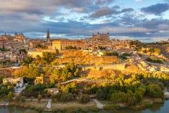 toledo воздушный взгляд города Стоковое Изображение RF