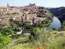 Toledo. And Tagus River. Spain Stock Photo