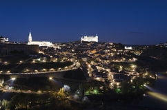 Toledo. Night view of the city of Toledo, Spain Stock Images