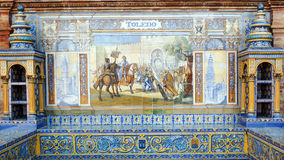 Toledo. Andalusian ceramic Poster depicting historic moments of the city of Toledo Royalty Free Stock Image
