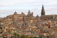Toledo. Dominated by the towers of Cathedal and surrounding churches, Spain Stock Image