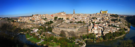 Toledo. A panoramic shot of Toledo, Spain Royalty Free Stock Images