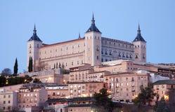 Toledo - Alcazar in morning Royalty Free Stock Photos