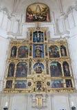 Toledo - altare principale gotico di Monasterio San Juan de los Reyes Fotografia Stock Libera da Diritti