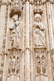 Toledo - Apostle Paul and Jacob from south gothic portal of Cathedral Primada Santa Maria de Toledo Royalty Free Stock Image