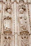 Toledo - Apostle Peter and John from south gothic portal of Cathedral Primada Santa Maria de Toledo Stock Images