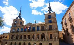 Toledo Ayuntamiento in Spanien-La Mancha lizenzfreies stockfoto