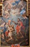 Toledo - bautismo de la pintura de Cristo de la iglesia Igle Imagenes de archivo