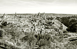 Toledo in black and white Royalty Free Stock Photo