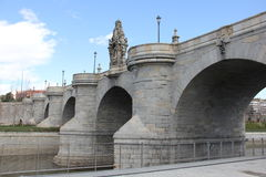 Toledo Bridge. The Puente de Toledo is in Madrid (Spain), is baroque (churrigueresco) and was built between 1718 and 1732 by Pedro de Ribera royalty free stock image