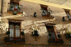 Toledo building front. Facade of the building in Toledo Spain stock image
