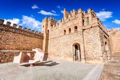 Toledo, Castilla-La Mancha, España - Puerta de Bisagra Foto de archivo libre de regalías