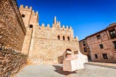 Toledo, Castilla-La Mancha, Espanha - Puerta de Bisagra Fotos de Stock Royalty Free