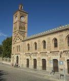 Toledo Castilla - La Mancha/Spanien Oktober 19, 2017 Drevstationen som är invigd i 1919 och återställer i 2005, står ut för dess Arkivbild