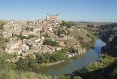 Toledo, Castilla - los angeles Mancha, Hiszpania/ Październik 19, 2017 Miasto wiele miejsca interes i jest światowego dziedzictwa Obrazy Royalty Free