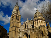 Toledo, Cathedral 02. The Cathedral in the medieval, walled city of Toledo, Spain Stock Images