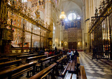 Toledo Cathedral. El Transparente in Toledo Cathedral, Spain Royalty Free Stock Photos
