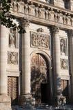 Toledo Cathedral Entrance medeltida stad av Toledo, Spanien Arkivfoto