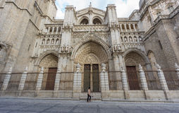 Toledo Cathedral, side view, Spain Royalty Free Stock Photography