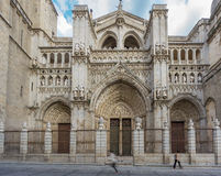 Toledo Cathedral, side view, Spain Royalty Free Stock Images