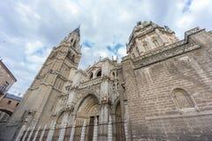 Toledo Cathedral sidosikt, Spanien Royaltyfri Bild