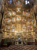 Toledo Cathedral, Spagna Ripresenti del sindaco dell'altare della cattedrale Fotografia Stock Libera da Diritti