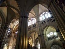 Toledo Cathedral Spanien arkivbilder