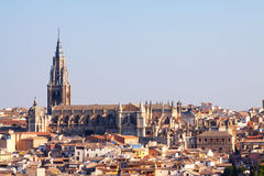 Toledo Cathedral in summer day Stock Photography