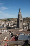 Toledo Cathedral Tower and landscape Stock Photo