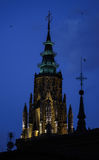 Toledo cathedral tower at night Royalty Free Stock Photography