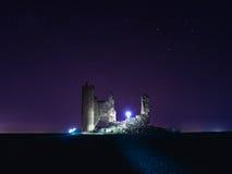 Toledo Caudilla kasztel przy nocą Obrazy Stock