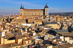 Toledo city center and Alcazar Royalty Free Stock Image