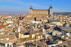 Toledo city center and Alcazar Royalty Free Stock Photos