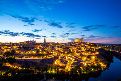 Toledo Cityscape at dusk Royalty Free Stock Photo