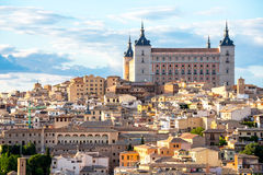 Toledo Cityscape Spain. Toledo Cityscape with Alcazar in Madrid Spain Stock Photography