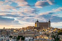 Toledo Cityscape Toledo är huvudstad av landskapet av Toledo (70 km Royaltyfri Fotografi