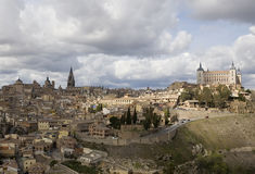 Toledo with Clouds stock photo