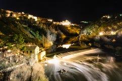 Toledo dal ponte di San Martin Fotografia Stock